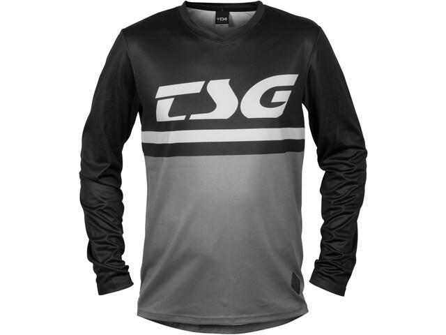 TSG Plain Maillot manches longues, black/grey